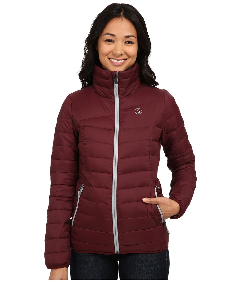 Volcom Snow - Casco Down Puff Puff Jacket (Port) Women's Coat