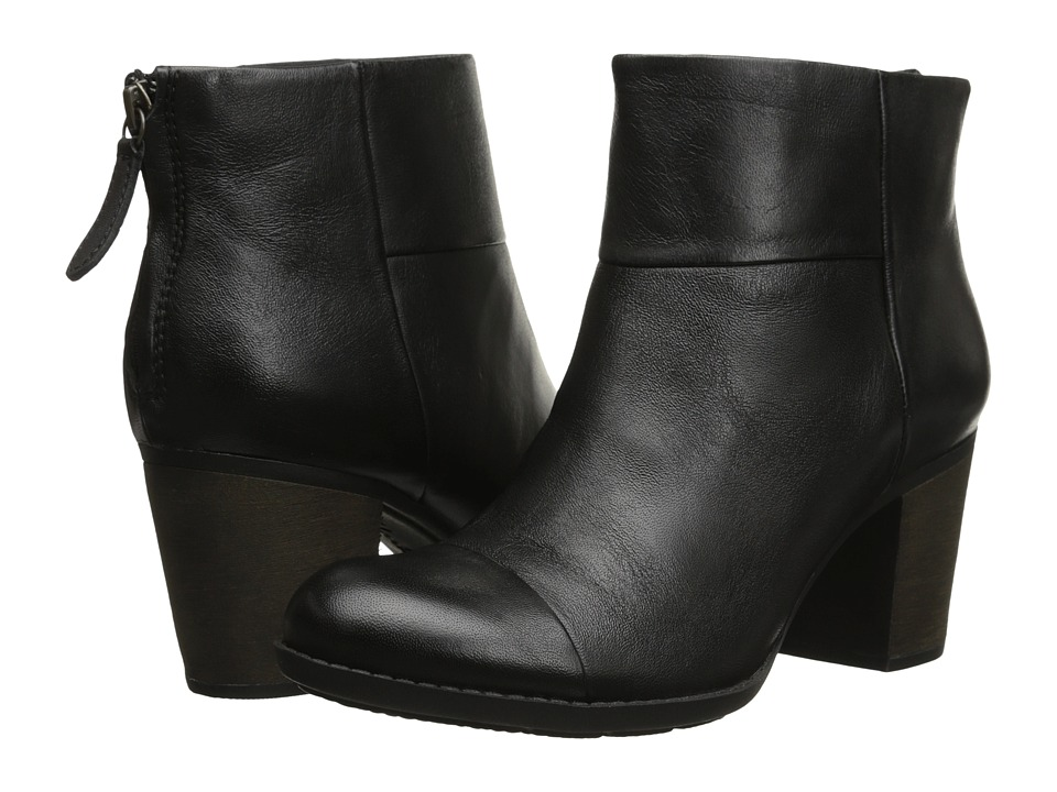 Clarks Enfield Tess (Black Smooth Leather) Women