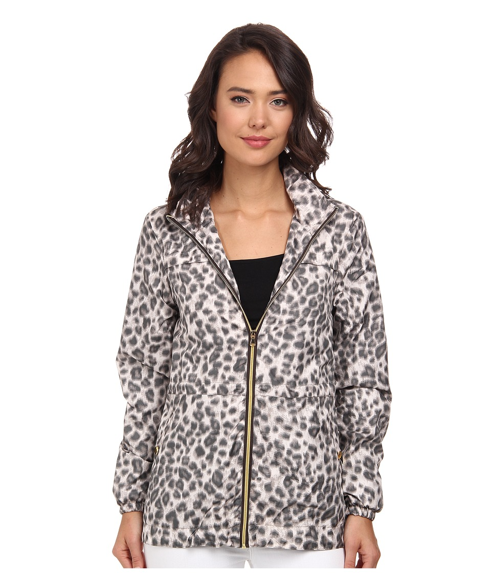 Christin Michaels - Nylon Sport Anorak (Leopard) Women's Coat