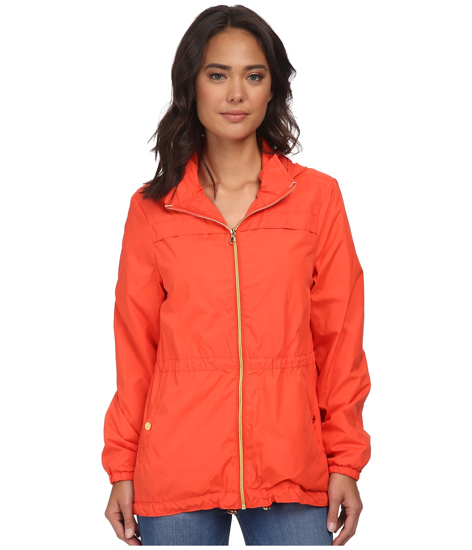 Christin Michaels - Nylon Sport Anorak (Orange) Women's Coat