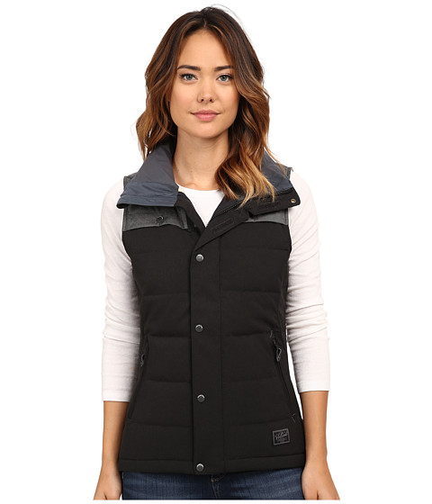 Volcom Snow - Heart Down Vest (Black) Women's Vest