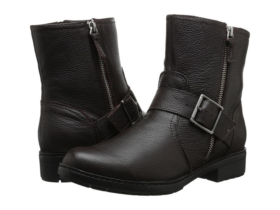 Clarks - Merrian Lynn (Brown Leather) Women's Zip Boots