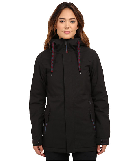 Volcom Snow - Act Insulated Jacket (Black) Women's Coat