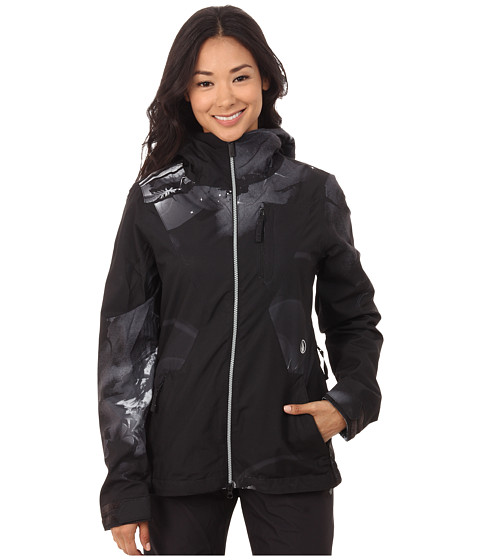 Volcom Snow - Dryas Jacket (Black Grey) Women's Coat