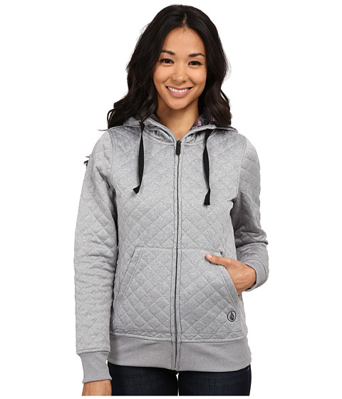 Volcom Snow - Tansy Quilted Fleece (Grey) Women