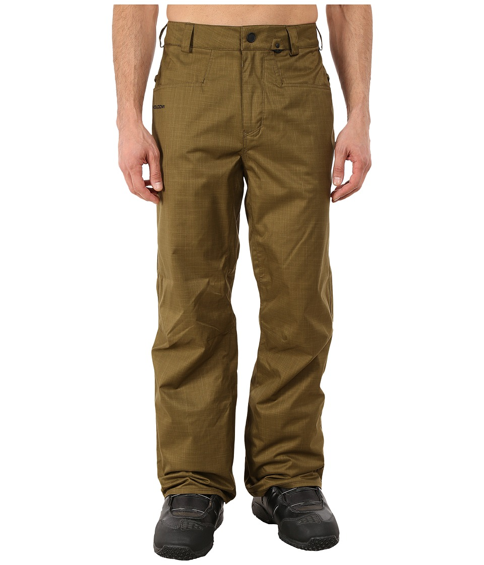 Volcom Snow - Carbon Pants (Olive) Men's Clothing