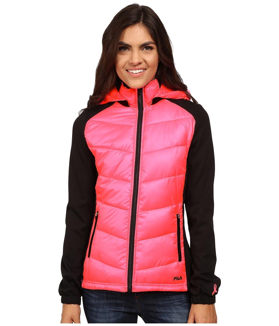 Fila - Fan Favorite Jacket (Black/Knockout Pink) Women