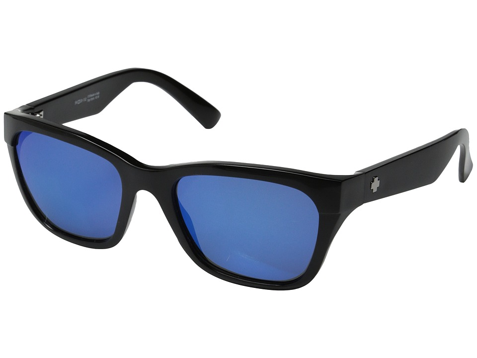 Spy Optic - Baxter (Black/Gray w/Blue Spectra) Sport Sunglasses