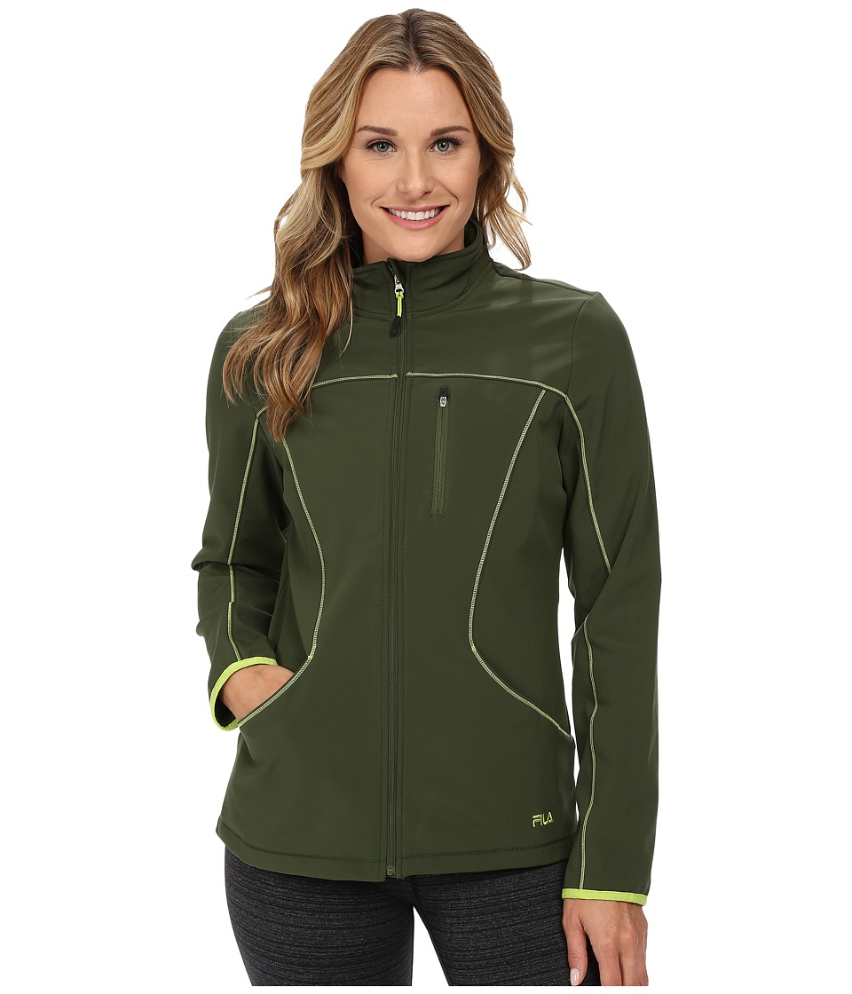 Fila - Uplands Jacket (Rifle Green/Kiwi) Women's Coat