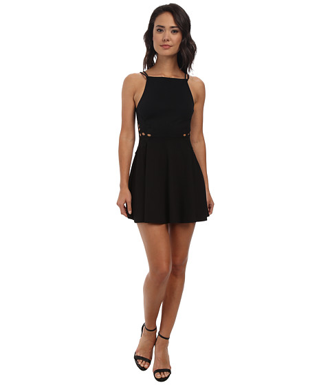 Free People - Cha Cha Ponte Like A Dream Dress (Black) Women