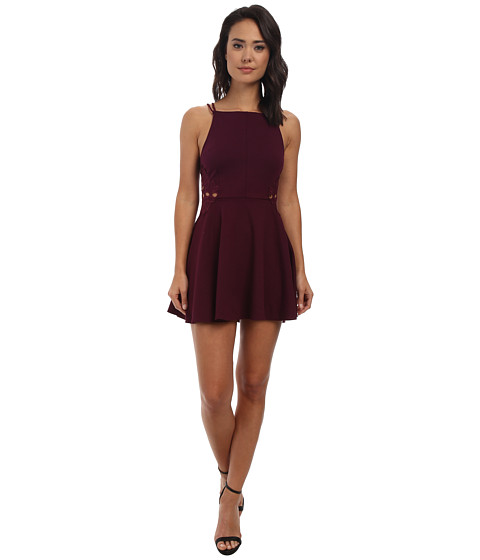 Free People - Cha Cha Ponte Like A Dream Dress (Plum Wine) Women