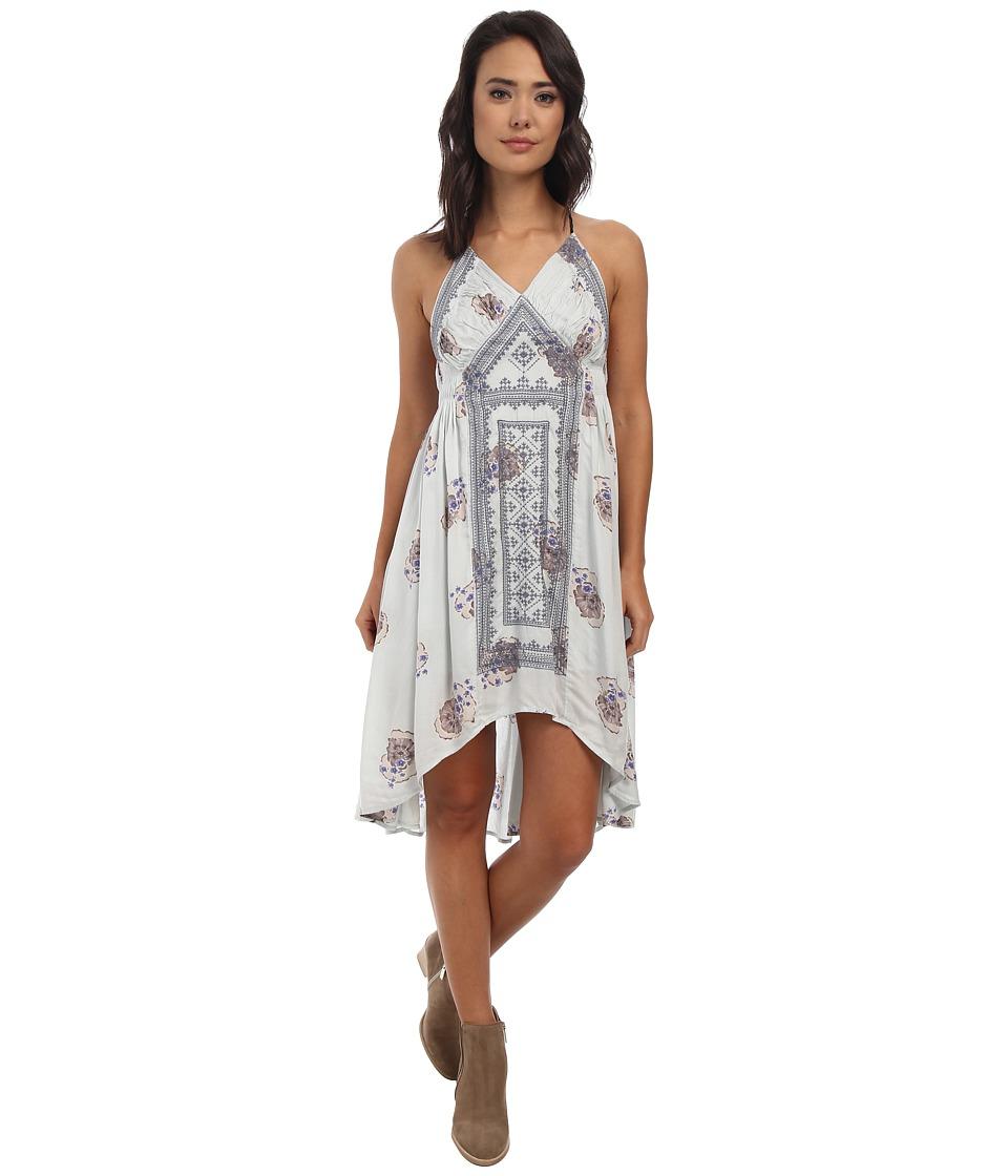 Free People - Fauna Midi Dress (Bluebell Combo) Women