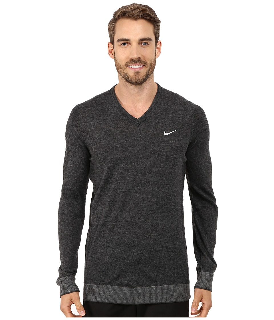 Nike Golf - Engineered Knit 3D Sweater (Black Heather/Charcoal Heather/Anthracite/Wolf Grey) Men's Sweater