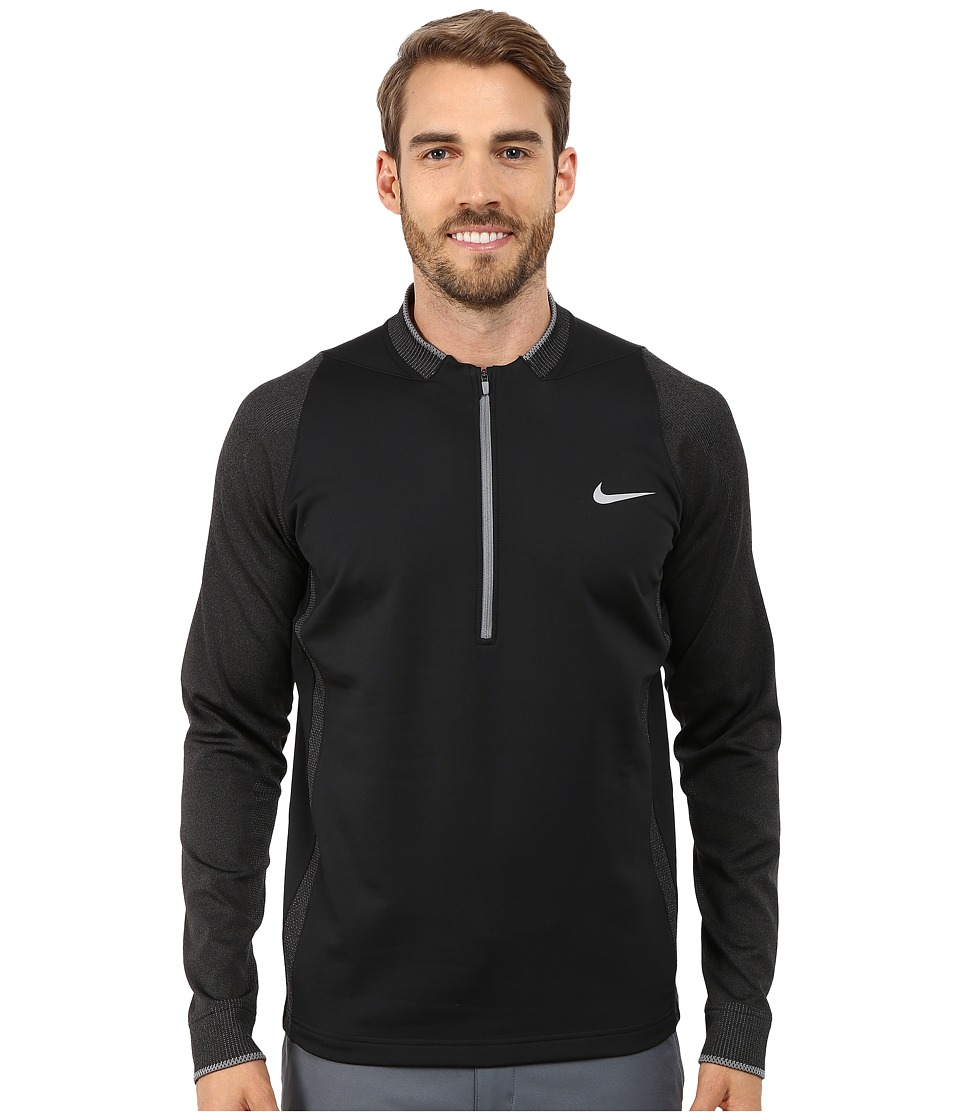 Nike Golf - Therma-Fit 3D Engineered 1/2 Zip (Black/Black Heather/Cool Grey/Wolf Grey) Men's Clothing