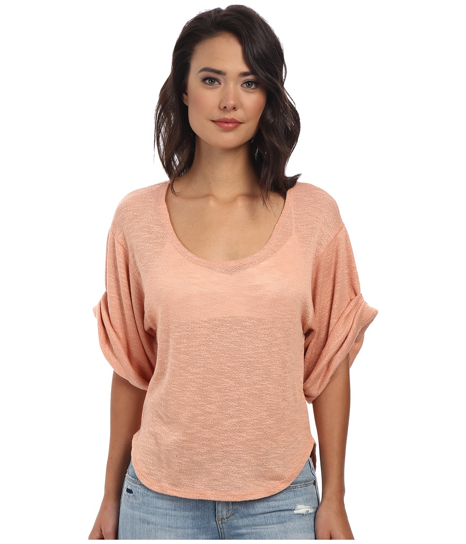 Free People - Nani Tee (Apricot Combo) Women's T Shirt