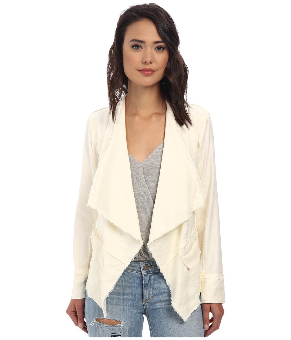 Free People - Raw Linen Drapey Jacket (Eggshell) Women