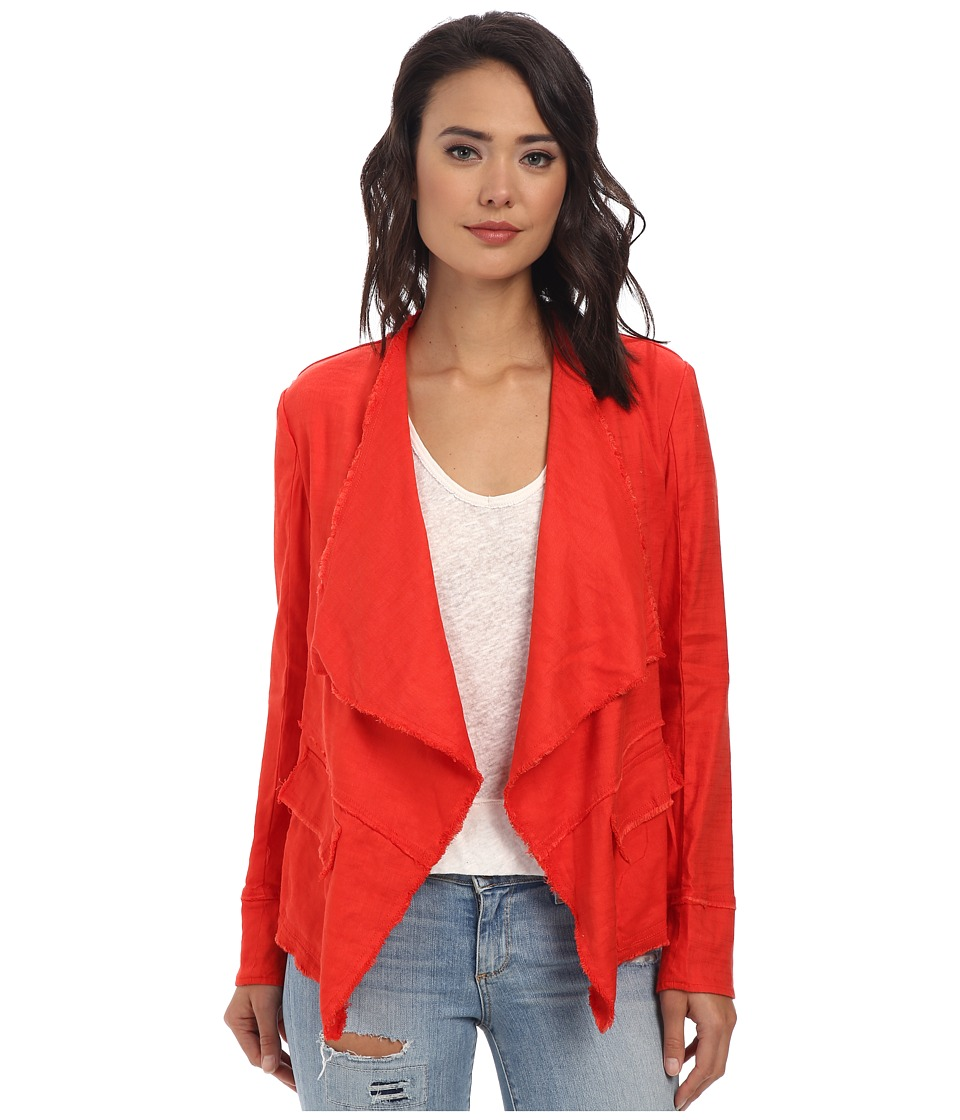 Free People - Raw Linen Drapey Jacket (Pimento) Women's Coat