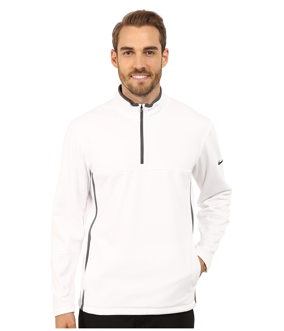 Nike Golf - Therma-FIT Cover-Up (White/Dark Grey/White/Anthracite) Men's Sweatshirt