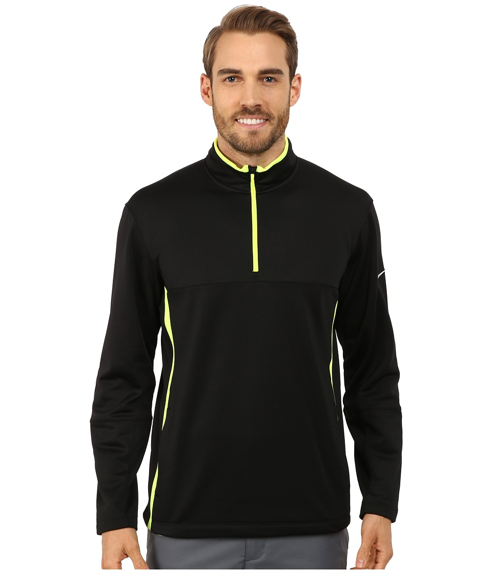 Nike Golf - Therma-Fit Cover-Up (Black/Volt/Black/Wolf Grey) Men