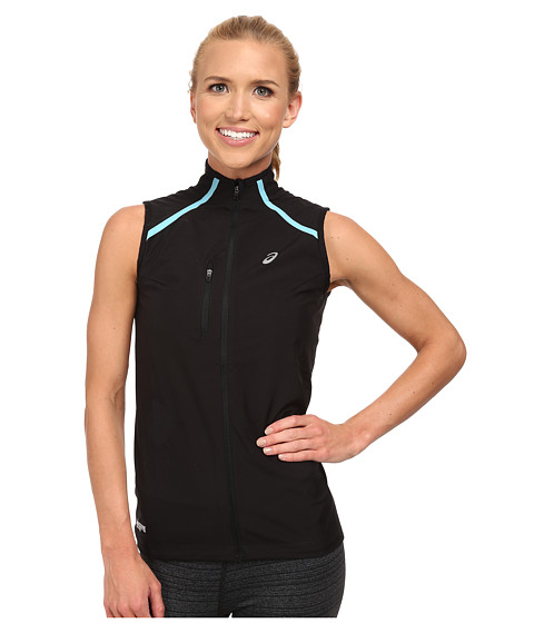 ASICS - Speed WINDSTOPPER Vest (Performance Black/Aquarium) Women