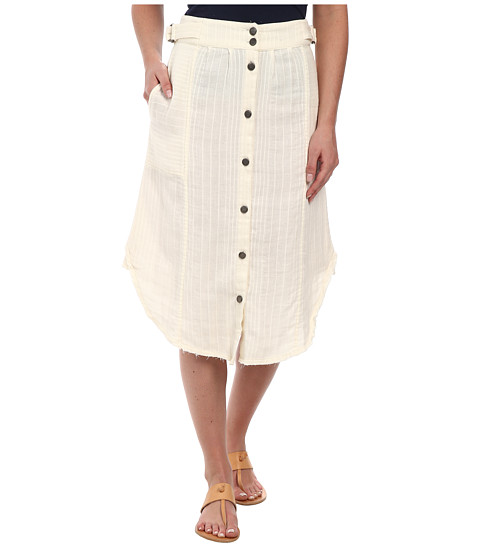 Free People - Double Cloth Train Of Love Skirt (Cream) Women's Skirt