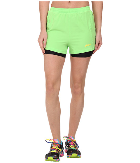 ASICS - Fuji 2-N-1 Short (Chive) Women's Shorts