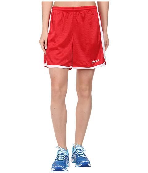 ASICS - Team 5 Mesh Shorts (Red) Women