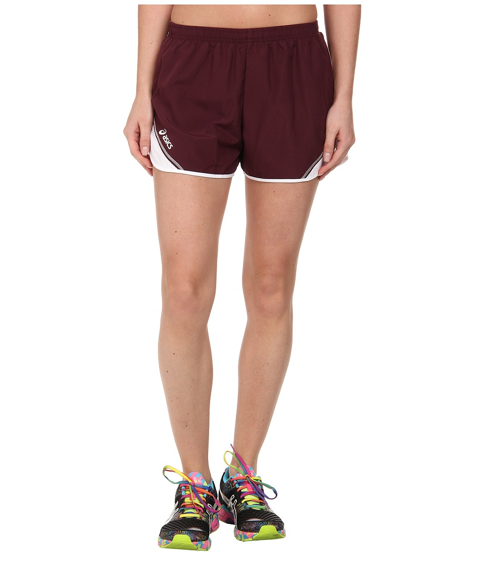 ASICS - Team Split Short (Maroon/White) Women's Shorts