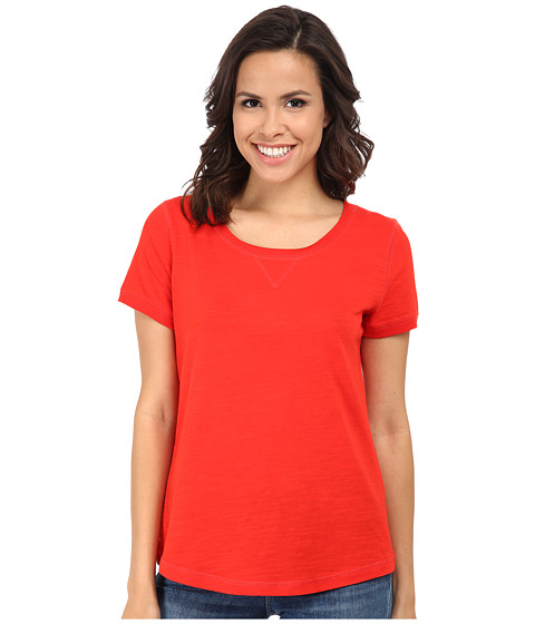 Jones New York - Scoop Neck Top (Red Coral) Women's Clothing