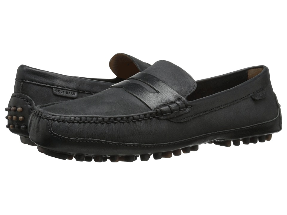 Cole Haan - Grant Canoe Penny (Black 1) Men's Slip on Shoes