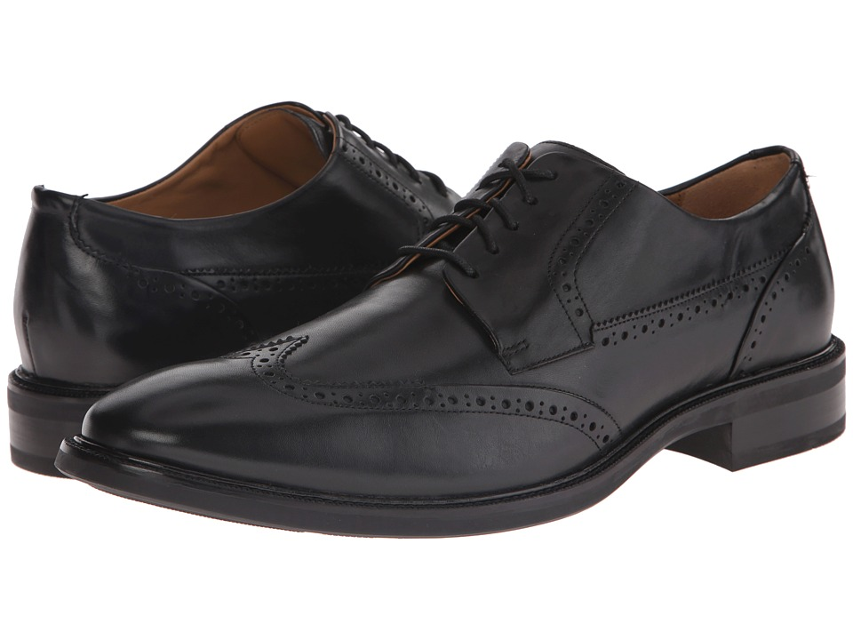 Cole Haan - Warren Wing Ox (Black) Men's Lace Up Wing Tip Shoes