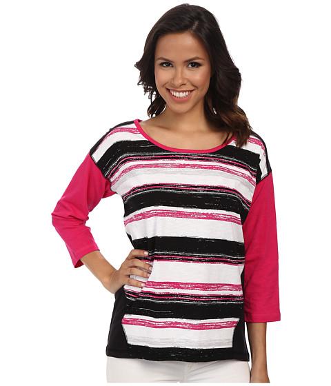 Jones New York - Drop Shoulder Top (Azalea Multi) Women's Clothing