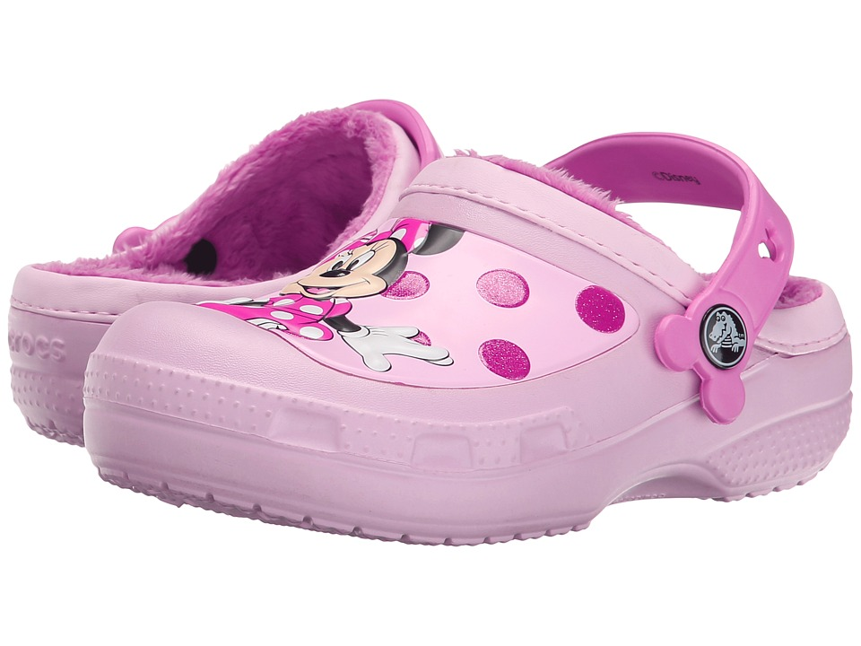 Crocs Kids - Minnie Glitter Lined Clog (Toddler/Little Kid) (Ballerina Pink) Girls Shoes
