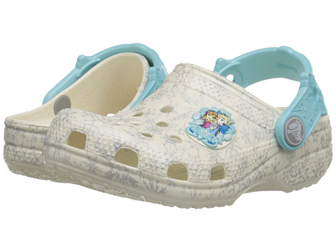 Crocs Kids - Classic Frozen Clog (Toddler/Little Kid) (Oyster) Girls Shoes