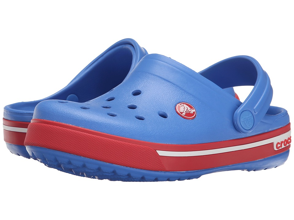Crocs Kids - Crocband II.5 Clog (Toddler/Little Kid) (Varsity Blue/Red) Kids Shoes