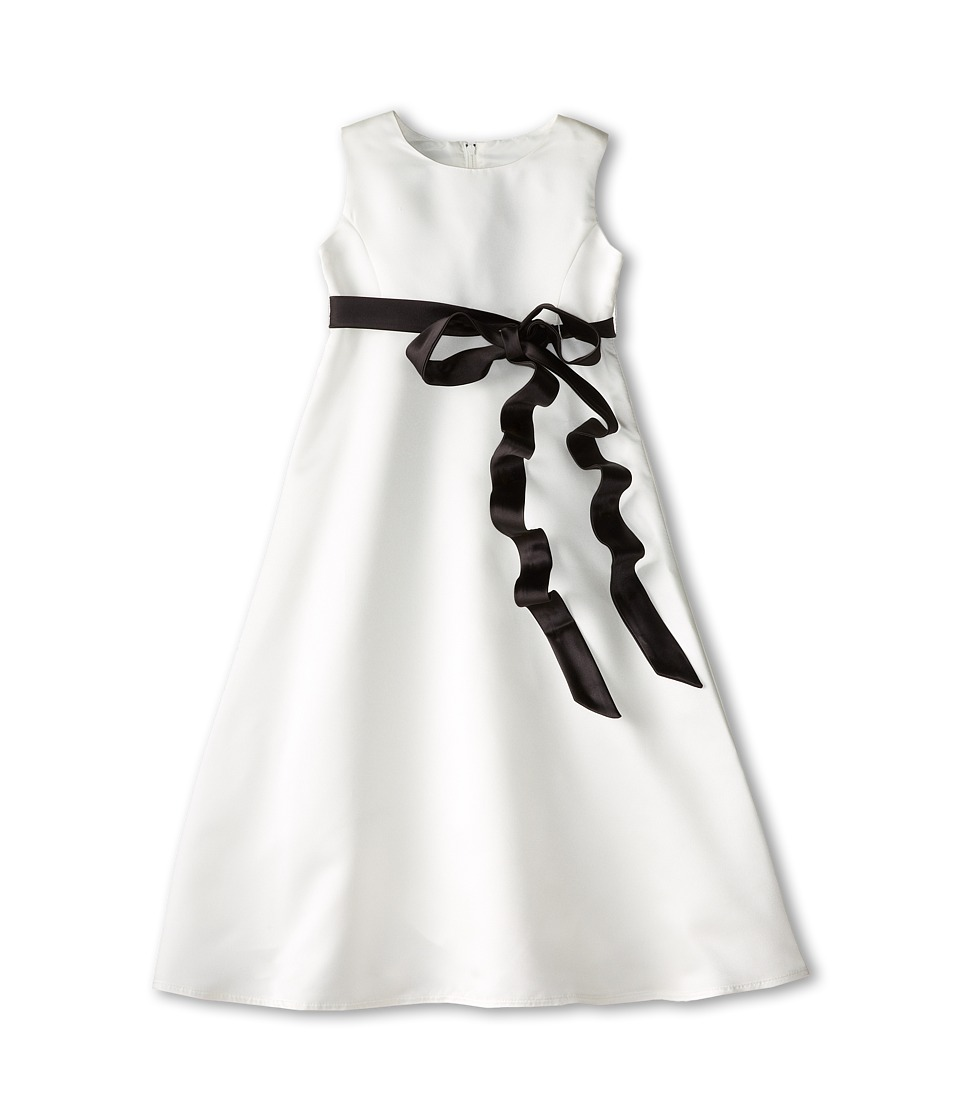 Us Angels - Satin A-Line Dress (Little Kids) (Black) Girl's Dress