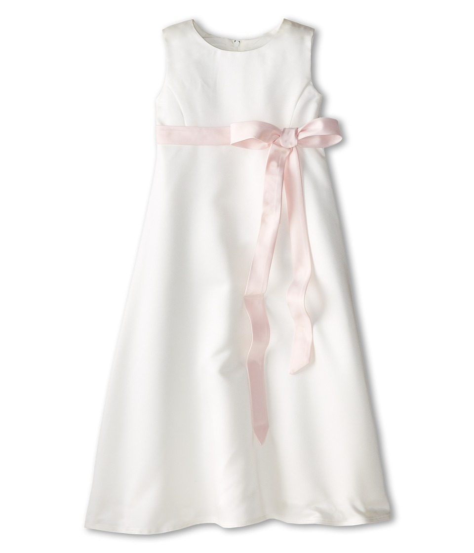 Us Angels - Satin A-Line Dress (Little Kids) (Blush Pink 1) Girl's Dress