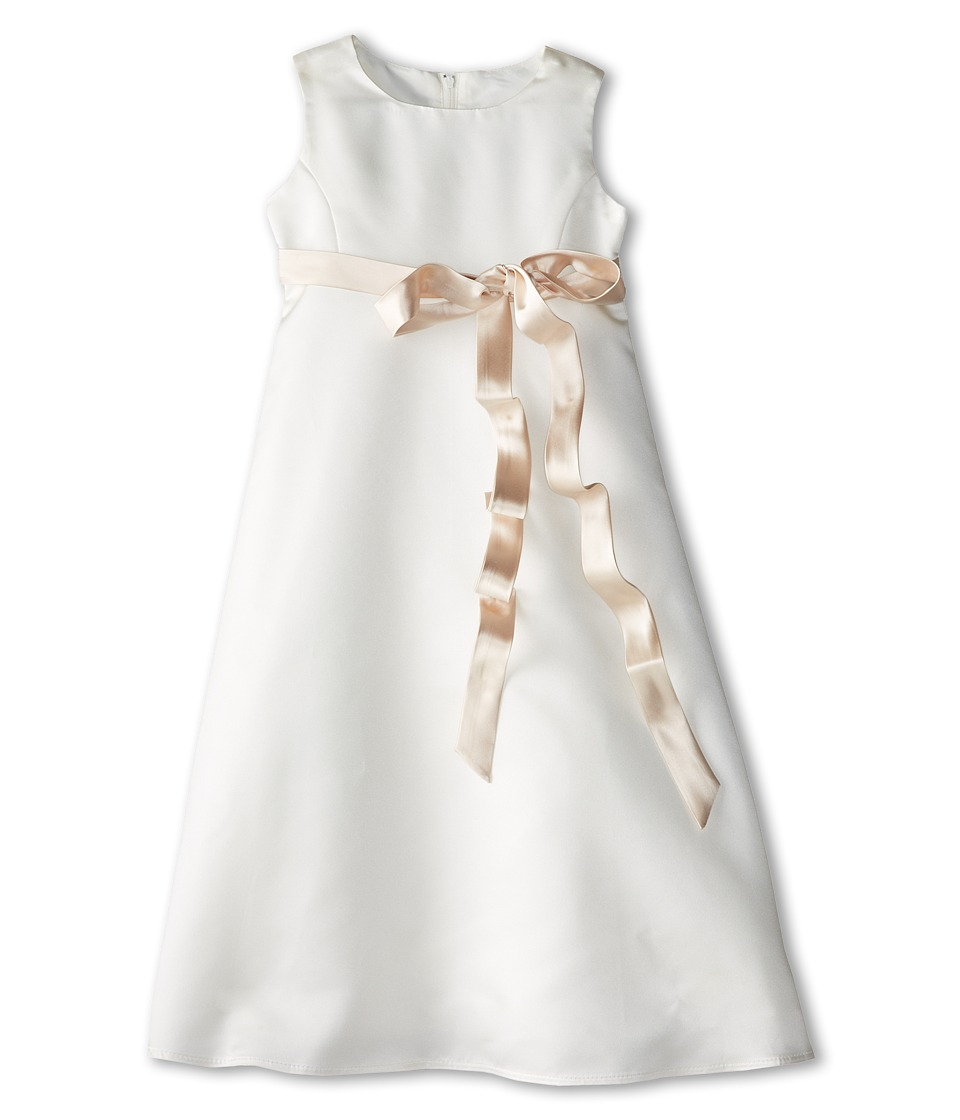 Us Angels - Satin A-Line Dress (Little Kids) (Champagne) Girl's Dress