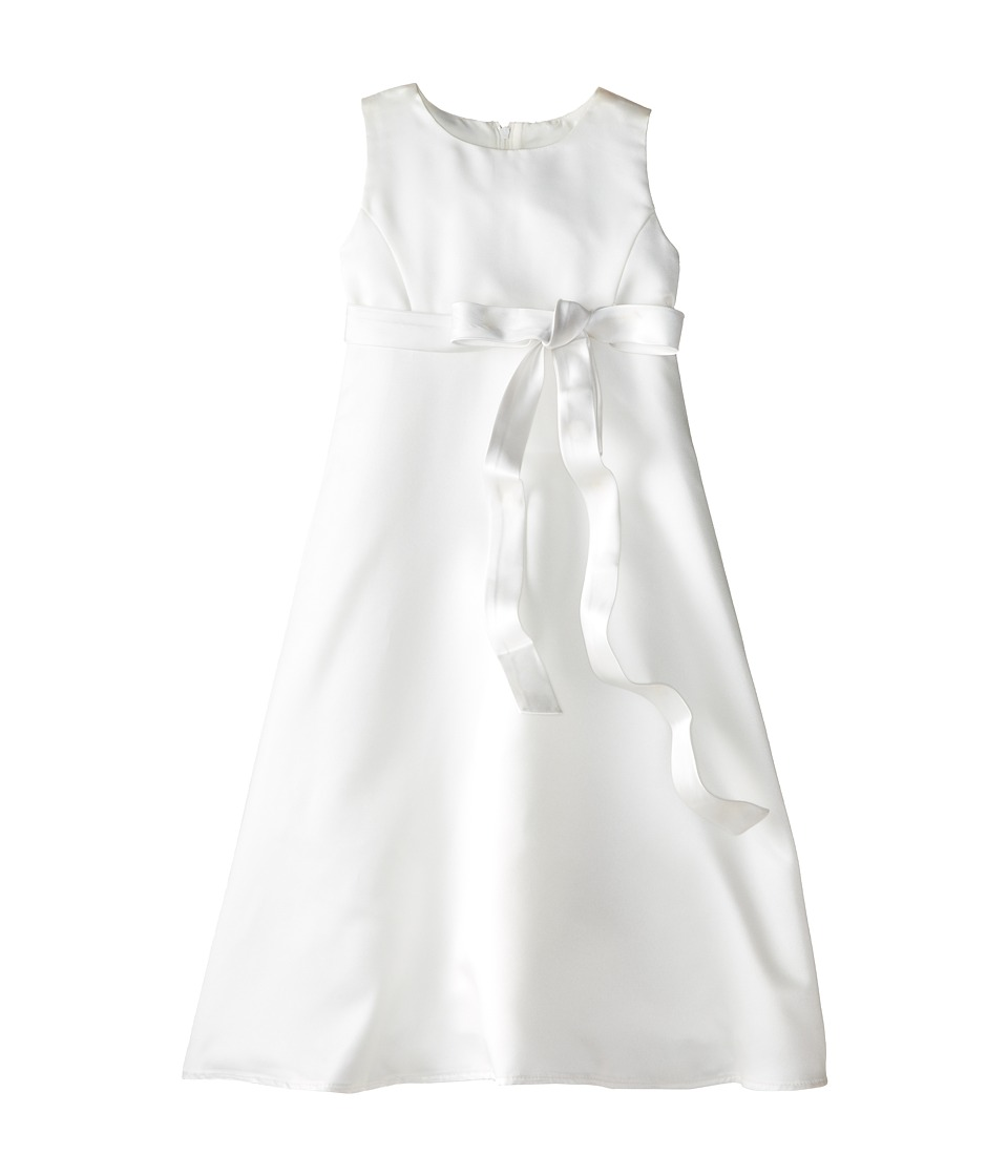 Us Angels - Satin A-Line Dress (Little Kids) (Ivory) Girl's Dress