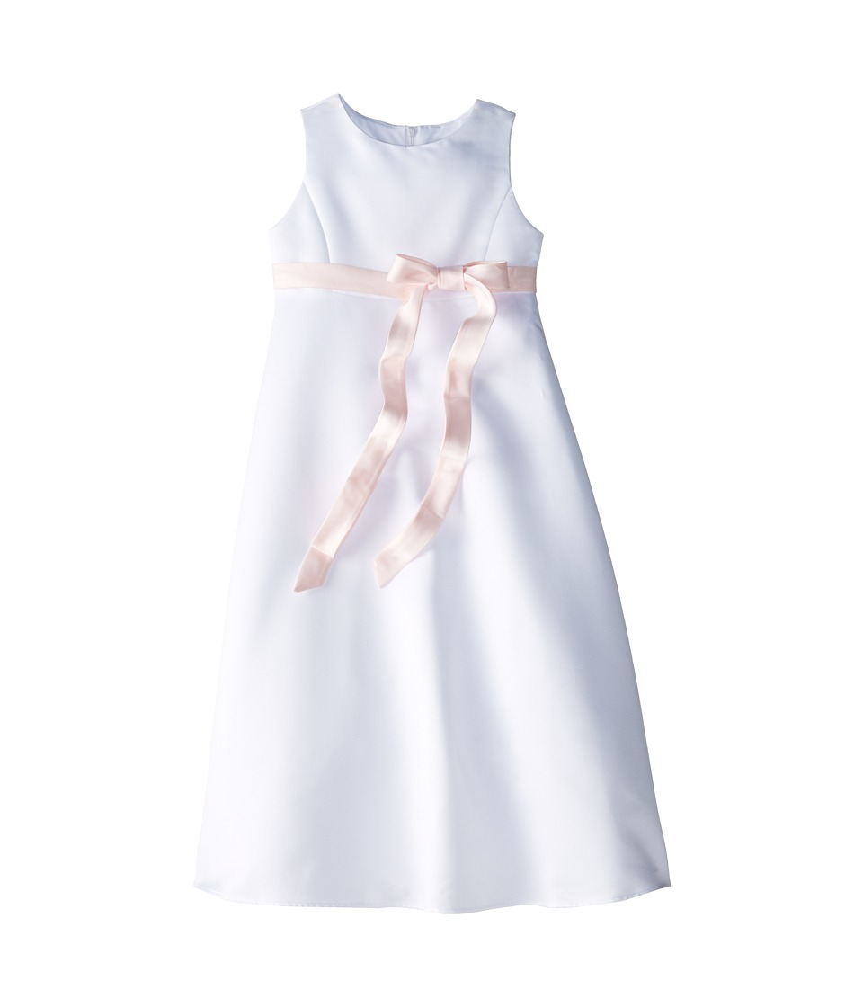 Us Angels - Satin A-Line Dress (Big Kids) (Blush) Girl's Dress