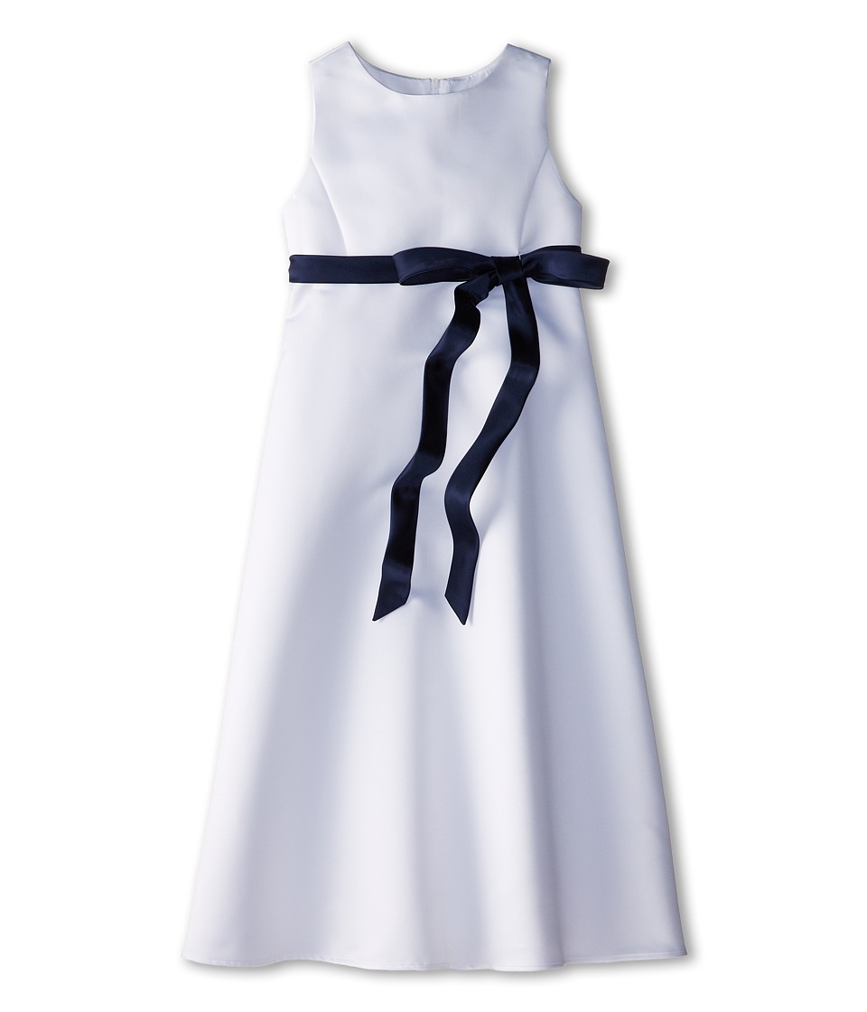 Us Angels - Satin A-Line Dress (Big Kids) (Navy) Girl's Dress