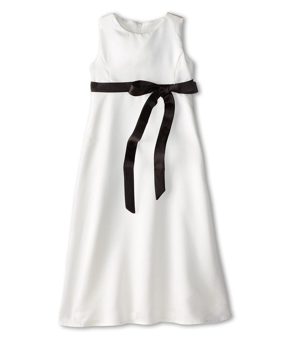 Us Angels - Satin A-Line Dress (Big Kids) (Black) Girl's Dress