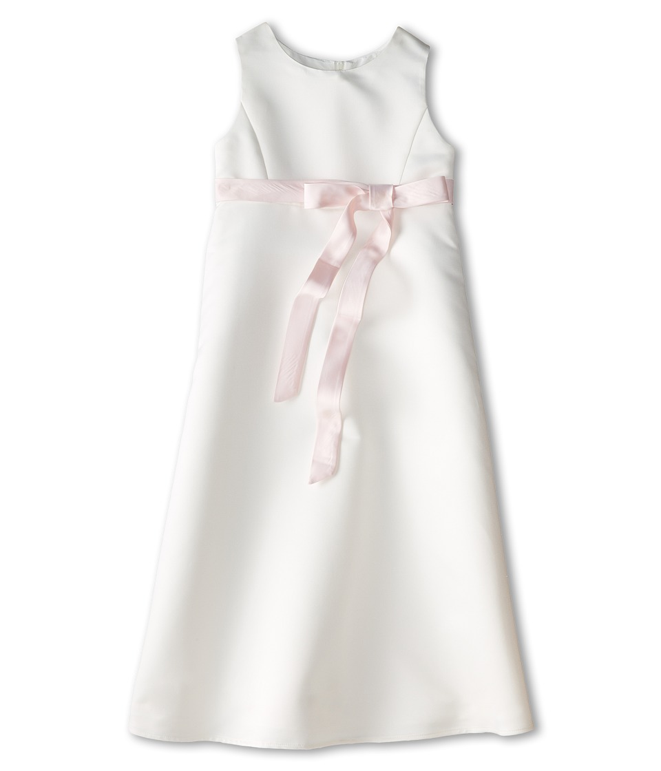 Us Angels - Satin A-Line Dress (Big Kids) (Blush Pink) Girl's Dress