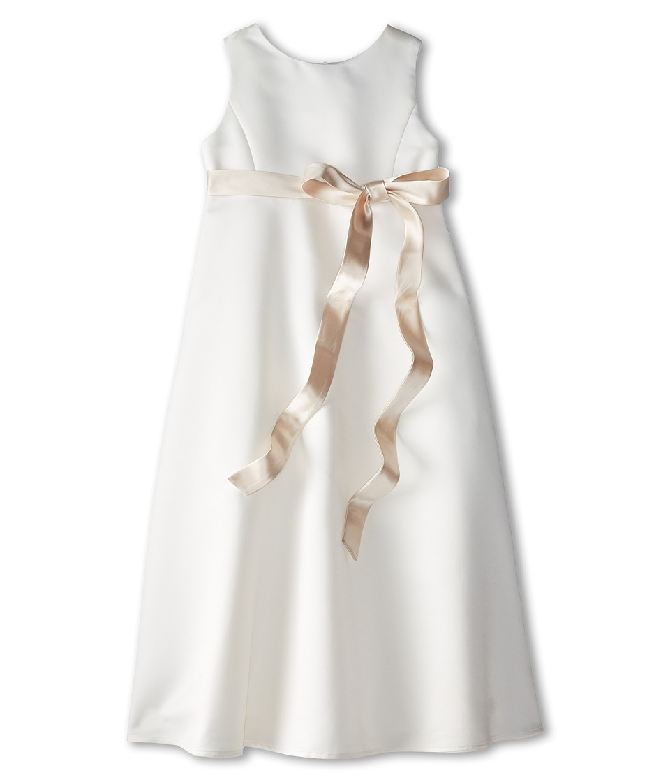 Us Angels - Satin A-Line Dress (Big Kids) (Champagne) Girl's Dress