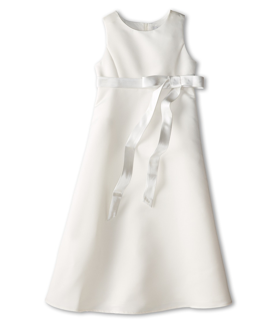 Us Angels - Satin A-Line Dress (Big Kids) (Ivory) Girl's Dress