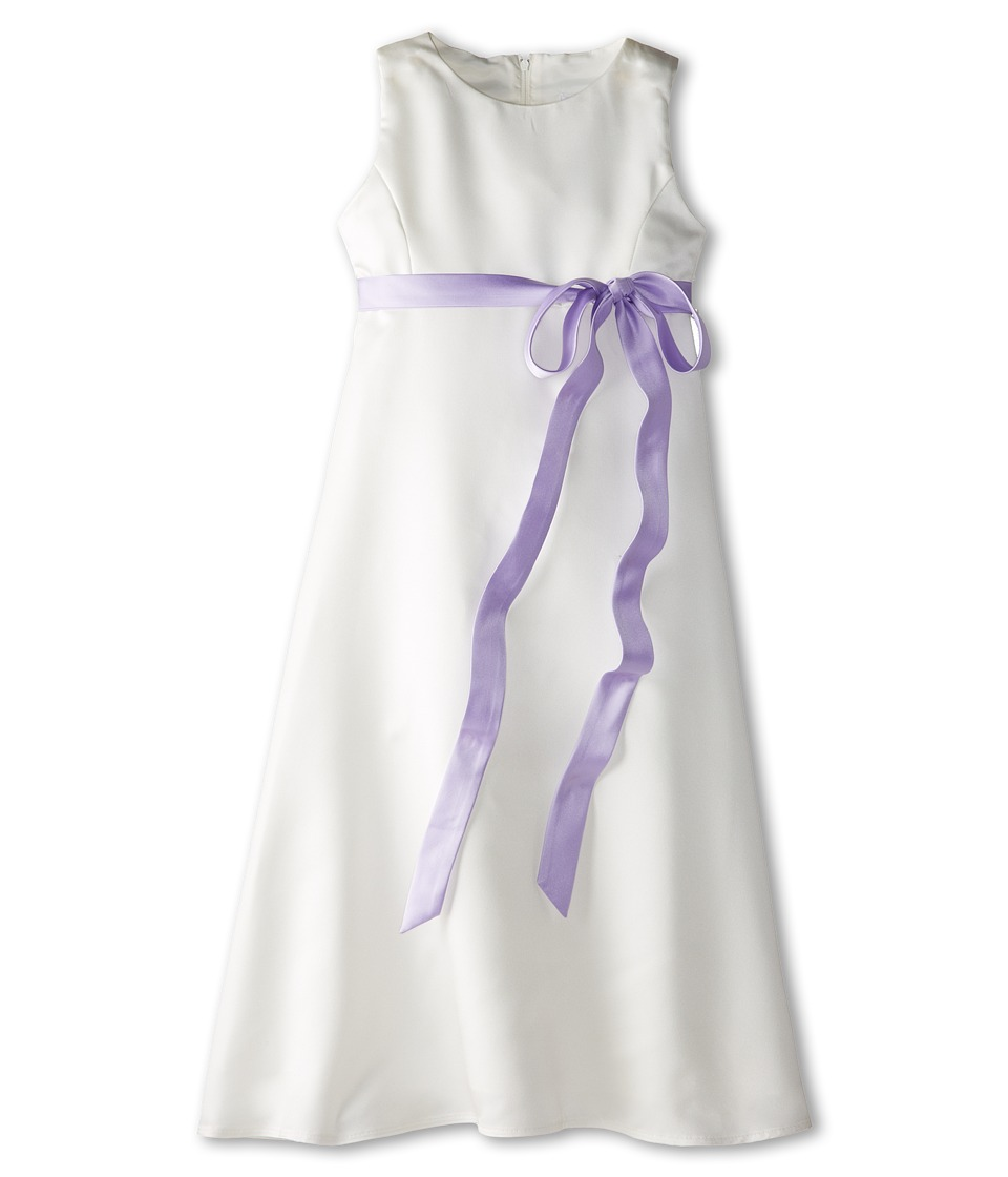 Us Angels - Satin A-Line Dress (Big Kids) (Lilac) Girl's Dress