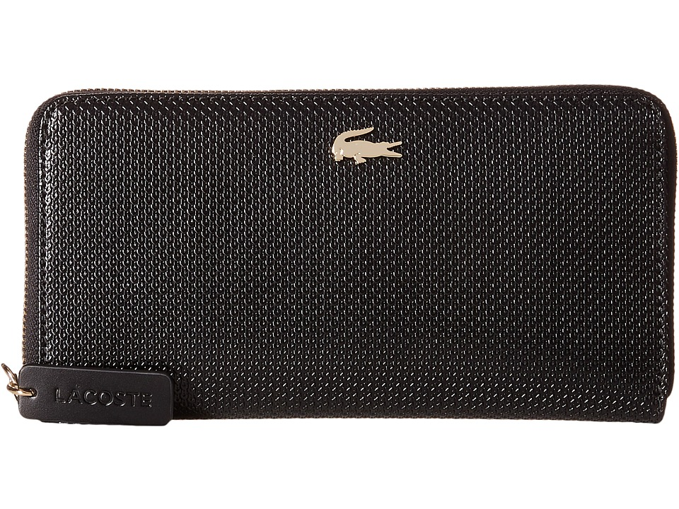 Lacoste - Chantaco Large Zip Wallet (Black Fig) Wallet Handbags