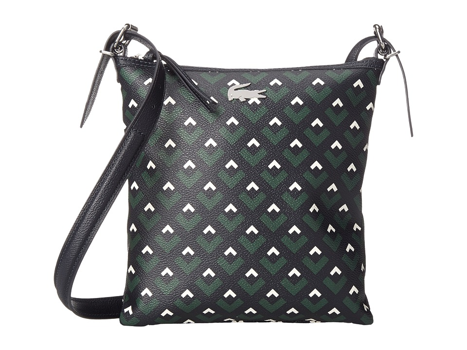 Lacoste - Nelly Flat Crossover Bag (Midnight Navy Lily White) Cross Body Handbags