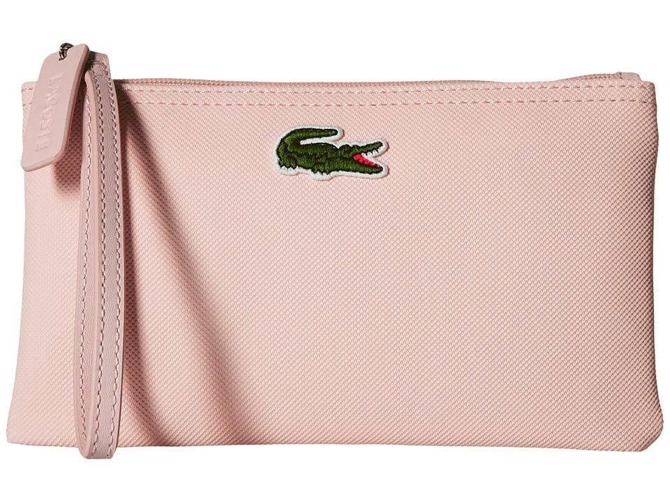 Lacoste - L1212 Wristlet (Pale Pink) Clutch Handbags