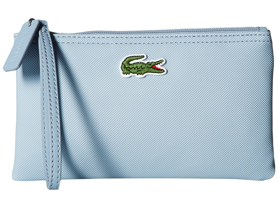 Lacoste - L1212 Wristlet (Dusty Blue) Clutch Handbags